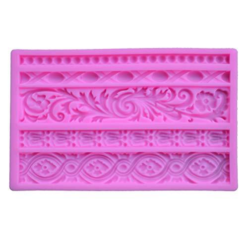 Macabolo Stampo in silicone per torte fai da te, per decorazioni in stile barocco, per dolci, cioccolato, 19,8 x 12,5 x 1 cm