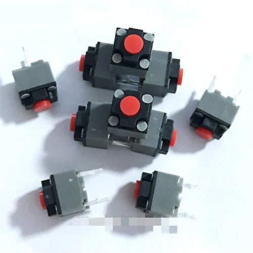 Jgzwlkj Interruptores de botón 10pcs Mute Botón 6 * 6 * 7.3 Interruptor de botón silencioso Ratón inalámbrico Botón con Cable de ratón Luz Toque Micro Mouse Switch 6x6x7.3 2Pin