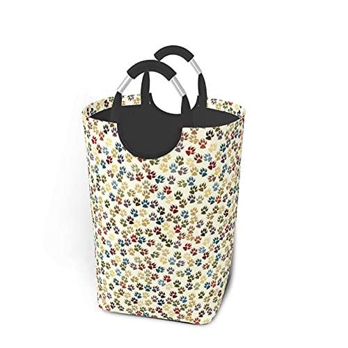 HUBNYO Cestas de lavandería con estampado de huellas de huellas dactilares, paquete de ropa sucia, impermeable, con asas de gran tamaño, para la familia, dormitorio de 57,7 cm