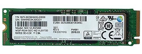 Samsung Pm981Polaris 256Gb m.2Ngff PCIe, Gen3X 4Nvme Solid State-Laufwerk SSD, OEM (2280Mzvlb256Hahq-00000