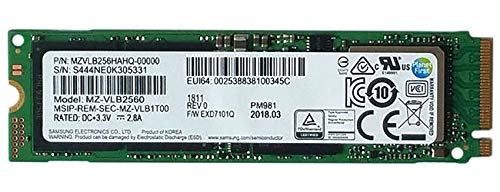 Samsung Pm981 Polaris 256 Gb m.2 Ngff PCIe, Gen3 X 4 Nvme Solid State-Laufwerk SSD, OEM (2280 Mzvlb256Hahq-00000