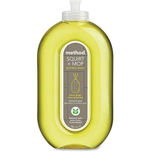 Method-00563CT Squirt + Mop Hard Floor Cleaner, Lemon Ginger, 25 Fl Oz (Pack 6)