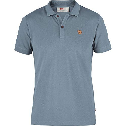 FJÄLLRÄVEN Övik Polo Shirt M - Poloshirt mit 2 Knöpfen für Herren XL Blau (Tonblau)