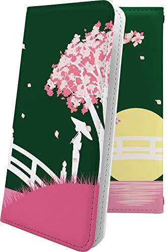 スマートフォンケース・ALCATEL ONETOUCH IDOL 3・互換 ケース 手帳型 花柄 花 フラワー サクラ 桜 小桜 夜桜 アルカテル ワンタッチ アイドル 和柄 和風 日本 japan 和 onetouchidol3 おしゃれ [MmH41549pk1]