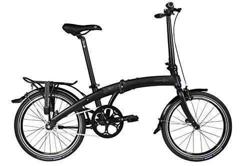 Dahon Mu Uno Fahrrad, faltbar, Schwarz matt