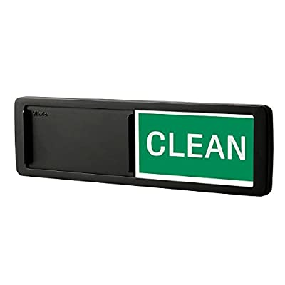 Premium Dishwasher Magnet Clean Dirty Sign, iRush Non-Scratching Backing Rotated Indicator Works for Dishwashers, Reminder Tells Whether Dishes are Clean or Dirty - Black from Nano shield