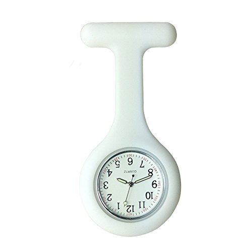 Nurse Watch Brooch, Silicone with Pin/Clip, Glow in Dark,...