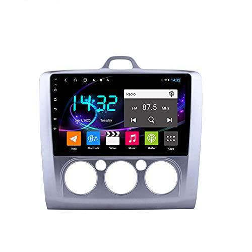 Android 10.0 Car Stereo Sat Nav Radio para Ford Focus 2004-2014 Navegación GPS 2 DIN 9 '' Unidad Principal Reproductor Multimedia MP5 Receptor de Video con 4G FM DSP WiFi SWC Carplay