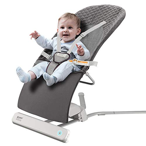Baby Bouncer, RONBEI Baby Swing for Infants,Travel Swing for Baby,Automatic Swing & Bouncer for Baby Girl/Baby Boy (Dark Brown)