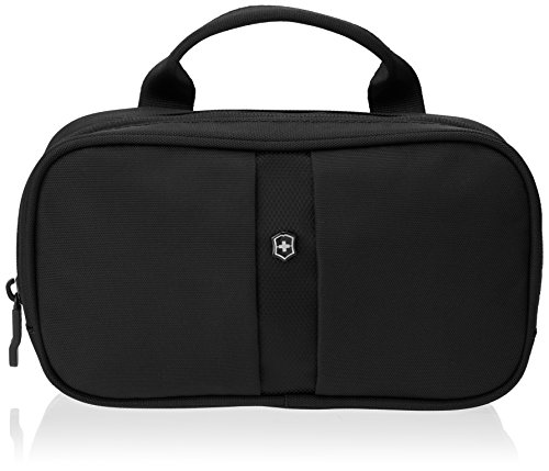 Victorinox Overnight Essentials Toiletry Kit, Black/Black Logo, One Size
