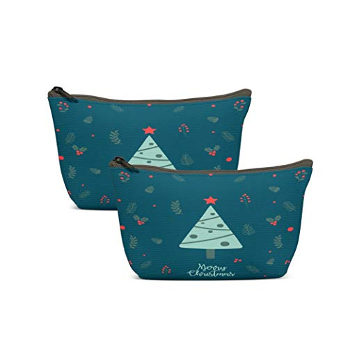 LANURA Santa Toiletry Bags Christmas Background Year Banner Christmas Sale Voucher Newsletter S Ads Coupons Social Makeup Cases Adorable Pencil Packet For Travel Party Women 1
