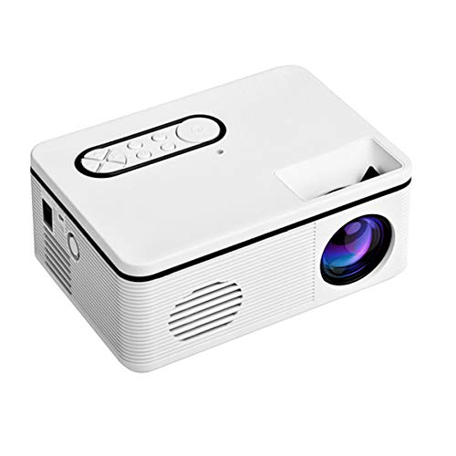 Mini Projector, Draagbare 600 Lumen HD Video Projector Met Infrarood Afstandsbediening, USB HDMI TV Home Theatre-Systeem Met Spreker, LED Pocket Movie Projector Voor Home Media Player,White