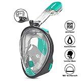 ACTENLY Schnorchelmaske Vollmaske Faltbare Tauchmaske Vollgesichtsmaske mit 180° Sicht und Action...