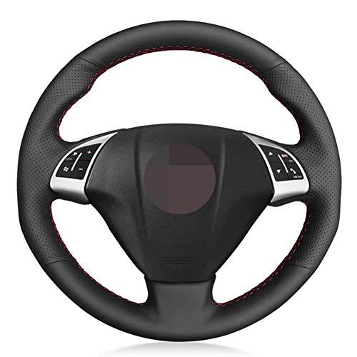 XLZWRJ Cubierta del Volante del Coche de Cuero Negro, para Fiat Grande Punto Bravo Linea 2007-2019 Qubo Doblo