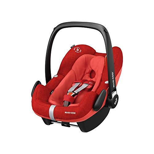 Maxi-Cosi Pebble Plus Autositz für Babys Gruppe 0+, ISOFIX-Kindersitz, i-Size, 0-12 m, 0-13 kg, 45-75 cm, Nomad Red (rot)
