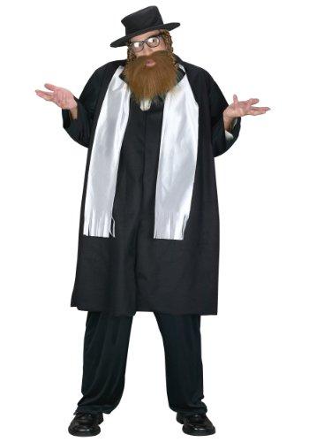 Fun World Men's Jewish Rabbi Plus Size Costume, Multi