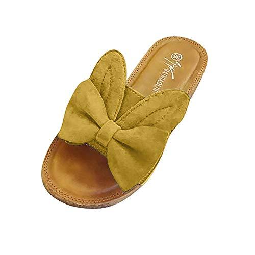 Chanclas para Mujer Sandalias de Verano Orejas de Conejo Zapatos Zapatillas Slips...