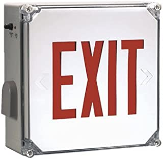 Weatherproof Exit Sign with Red Letters