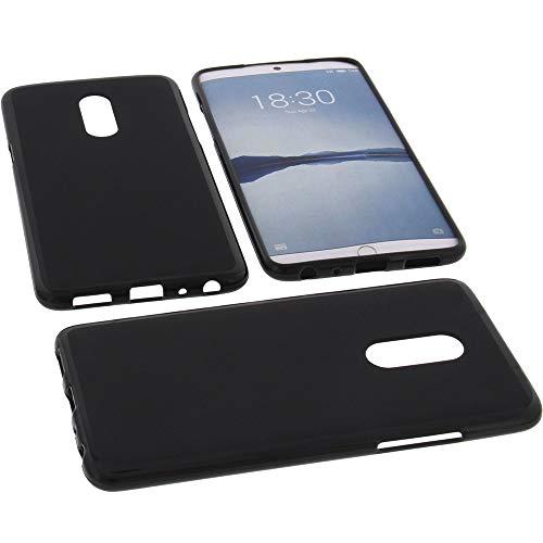 foto-kontor Tasche für Meizu 15 Plus Hülle Gummi TPU Schutz Handytasche schwarz