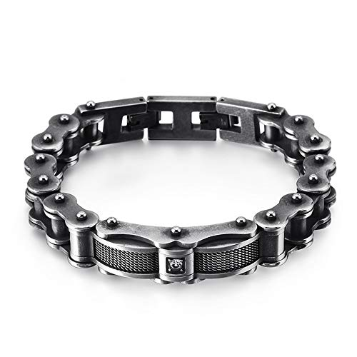 CAMORNY RVS Armband Fietsketting Armband Diamant Mode Ontwerp Retro Titanium Staal Armband Heren en Dames Sieraden