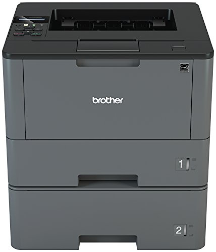 Brother Monochrome Laser Printer, HL-L5200DWT, Duplex Printing, Wireless Networking, Dual Paper Trays, Mobile Printing, Amazon Dash Replenishment Ready