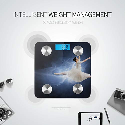 JXCSGBD A Young Elegant Ballet Dancer Bodyfat Scale Best Rated Bathroom Scales Electronic Weight Scale Tracks 8 Key Compositions Analyzer Sync with Fitness Apps 400 Lbs