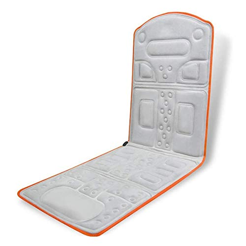 Heated Massage Mat With 10 Massage Heads And Automatic Power-off Settings Full Body Massager Cushion Relieve Neck, Back, Waist, Legs Pain