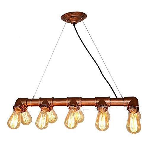 Industrielle Kronleuchter Real Pipe Anhänger Hängende Leuchten Mit 10 Lichtern Für Küche Esszimmer Foyer Billardtisch