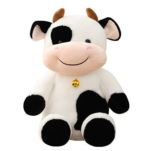 Xiaoahua Lindas muñecas de Peluche de Vaca de Leche, adorables muñecos de Peluche de Ganado de Dibujos Animados para niños, Regalo de cumpleaños para niños, 50 cm
