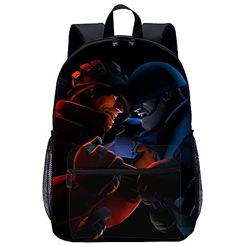 3D Escolar Mochila con mochila escolar Team Fortress Adecuado para: estudiantes de primaria y secundaria, la mejor opción para viajes al aire libre Tamaño: 45x30x15 cm / 17 pulgadas Mochila para n