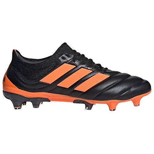 adidas Copa 20.1 FG, Bota de fútbol, Core Black-Signal Orange-Energy Ink, Talla 8 UK (42 EU)
