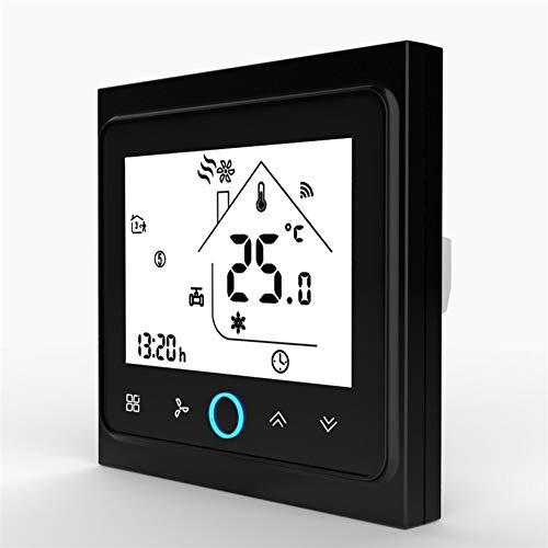 Thermostaat, wifi, airconditioning, centrale verwarming, thermostaat, temperatuurregelaar, 2 tot 4 buizen, ventilator, 3 snelheden, spoel, werkapparaat BAC 002 ALW blue
