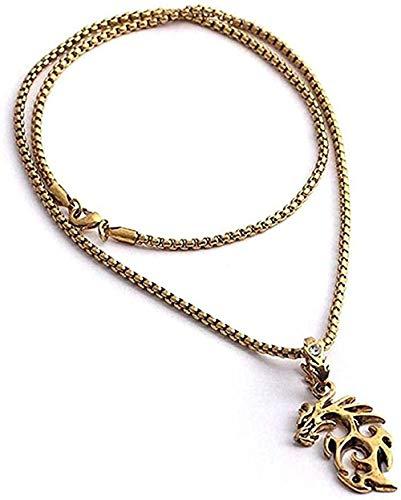 Ahuyongqing Co.,ltd Collar Collar Hombres Collar Relleno bordillo Cubano Enlace Oro Collar joyería Fina Cadena Gargantilla Pendientes Pareja joyería