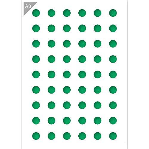 Plantilla de patrón de círculo - Plantilla de plástico - A3 42 x 29,7cm - Plantilla reutilizable, apta para niños - Plantilla para pintar, pared, muebles, pasteles, artesanía y graffiti