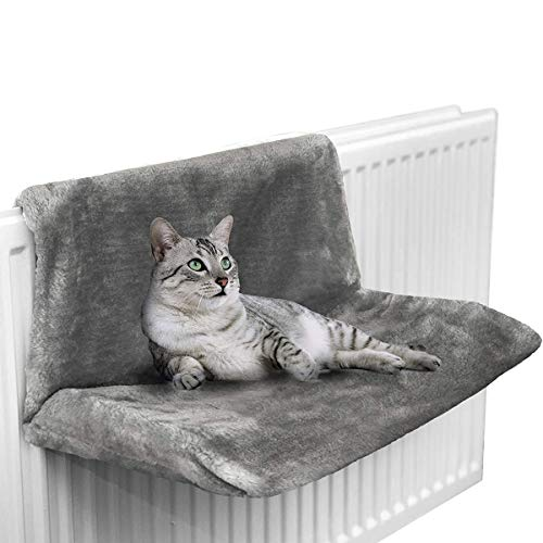 XYAM Cat Bed Removable Window Sill Cat Radiator Sofa Hammocks for Cat Kitty Hanging Bed Cosy Carrier Pet Bed Seat Hammock(Grey)