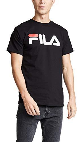 Fila Men's Logo Tee, Black, Medium