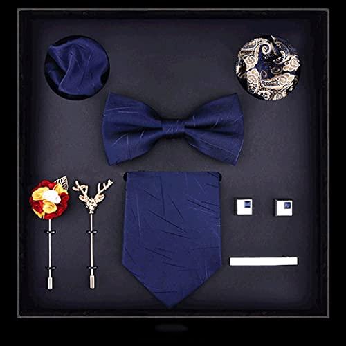 TOSLEJF Moda 8cm Hombre Corbata Corbata Corbatas Arco titañas pañacinas Corbata Corbata Corbata Broche Diez Trajes de Lujo Festival de Lujo Regalo de Boda (Color : B)