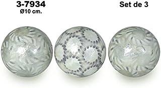 Supernova Decoracion- Set 3 Bolas Nacar .Medidas_Diam.10Cm