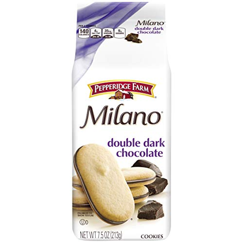 Pepperidge Farm Milano Double Dark Chocolate Cookies, 7.5 Ounce (Pack of 3)