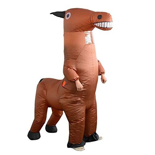 BSLBBZY Lustige aufblasbares Pferd Kostüme Halloween-Partei-Leistung Karneval Aufblasbares Kostüme for Weihnachten Erwachsene Beliebte aufblasbare Kleidung ( Color : Brown , Size : One Size )