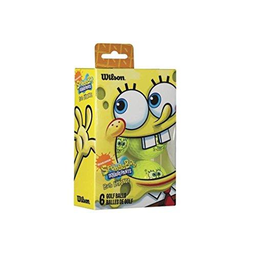 Wilson Sponge Bob Golf Balls 6 Pack