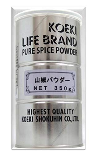 交易食品 山椒パウダー丸缶 350g