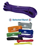 Garage Fit Pull Up Band, Assisted Pull Up Band, Pull Up Assist Band, WOD Band, Chin Up Assist Band #3 Purple (M) 100-120 lbs. 1 1/8'