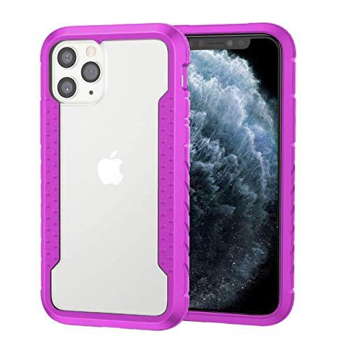 GOBY Coque iPhone 11 Case Slim Fit TPU avec Support de BagueSilicone Gel Anti Mince Placage Bumper Housse Lustre Métal 360° Bague Support Téléphone Voiture Etui (rose)