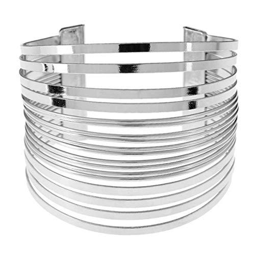 Draht Metall Kreis Split Ring Spule Draht Schmuck Gehämmert Bündel Manschette Armband Armreif