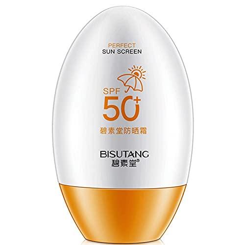 SPF 50 55ml protector solar facial blanqueador cuerpo cara crema solar bloqueador solar crema protectora de la piel fórmula suave humectante