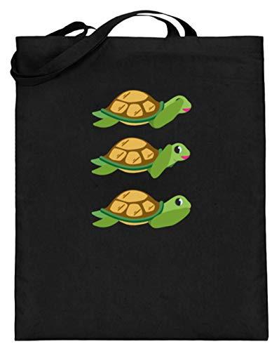 Chorchester Ideal für Schildkröten und Reptil Fans - Jutebeutel (mit langen Henkeln) -38cm-42cm-Schwarz