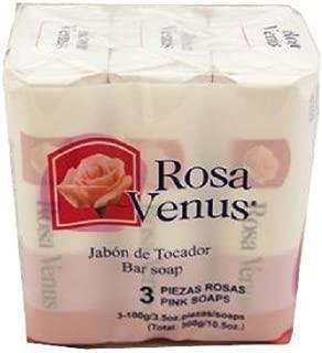 ROSA VENUS BAR SOAP - Pink 100 gr Each ( 3 in a Pack )
