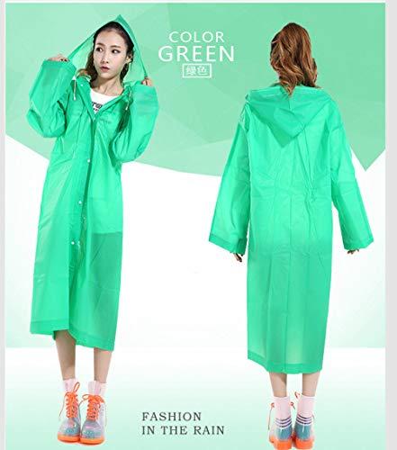Mouwen 100% waterdicht,Niet-wegwerp dikke regenjas, milieuvriendelijke volwassen poncho-groen_20 stuks,herbruikbare doorzichtige regenjas met capuchon en mouwen
