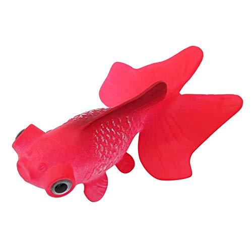 Decorazione di pesce falso acquario, divertente silicone artificiale piccolo ornamento di pesce serbatoio di pesce ornamenti di materiale in silicone per l'acqua salata acquario(Pesce rosso rosso)